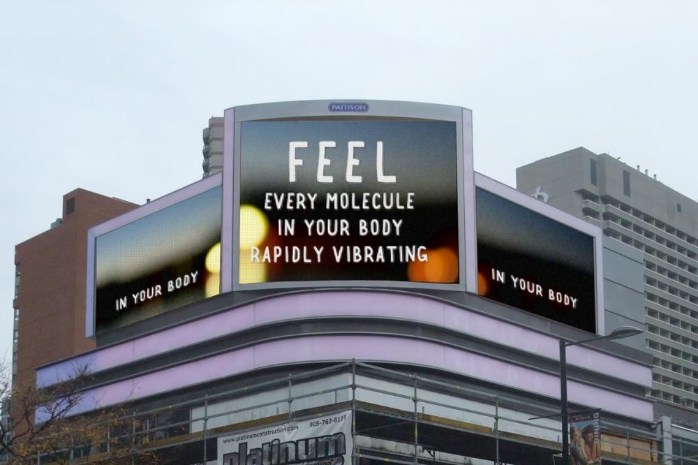 Steve Lambert on video billboard.